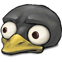 worried, tux, look DarkSlateGray icon