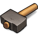 hammer, eternal, sledge DimGray icon