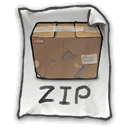 got, Bad, Handwriting, Zip DarkSlateGray icon