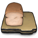 Bread, loaves DarkSlateGray icon