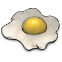 chicken, fried, Fetus Silver icon