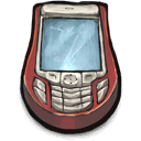 phone, cellular Sienna icon