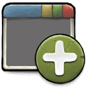 new, window DimGray icon