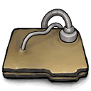 Folder, networked DarkKhaki icon