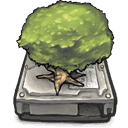 internal, drive, Tree DimGray icon