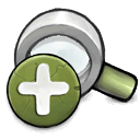 zoom, Zoom in, In OliveDrab icon