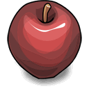 Apple, vector Sienna icon