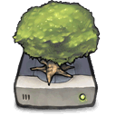 Tree, drive, removeable DimGray icon