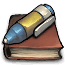 Journal, permanant Sienna icon