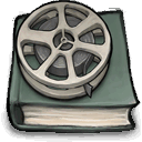 Book, about, Movies DimGray icon