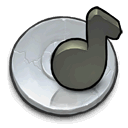 Cd, music Silver icon