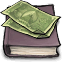 Money, Book DimGray icon