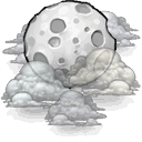 Cloudy, night DarkGray icon