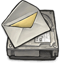 drive, mail DarkSlateGray icon