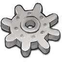 Gear, grey, light Silver icon