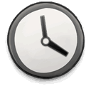 derp, Clock Gainsboro icon