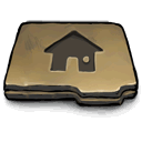 Folder, Home DarkSlateGray icon