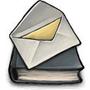 Book, mail, ok DarkGray icon