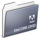 adobe, disc, Dvd, Folder, Encore DimGray icon