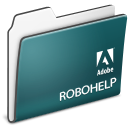 Folder, adobe, robohelp DarkSlateGray icon