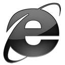 Ie, Browser Black icon