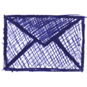 Email, envelope, Letter, Message, Drawing, mail, Contact, envelop DarkSlateBlue icon