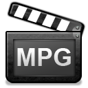 video, Mpeg, mpg DarkSlateGray icon