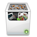 Bin, recycle, Full Silver icon