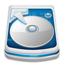 hard drive Gainsboro icon