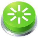 button, perspective, Reboot YellowGreen icon