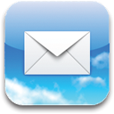 envelop, Email, mail, Letter, Message SkyBlue icon