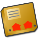 Zip, something, pack, Box, this, Like, package, parcel Goldenrod icon