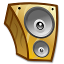 speaker, music, sound, Multimedia, Loud, voice SaddleBrown icon