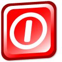 quit, sign out, Exit, logout Red icon