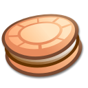 cookie, food, cake Black icon