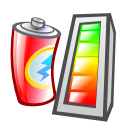 Battery, charge, Klaptopdaemon, Energy, charging Black icon