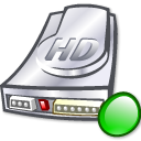 hard disk, Hdd, mount, hard drive Black icon