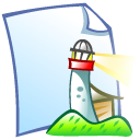 Doc, Netscape, Lighthouse LightCyan icon