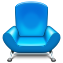 row, Chair, Front, furniture DodgerBlue icon