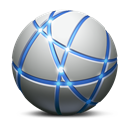 Intranet, network Black icon
