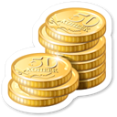 Money, Cash, Currency, coin Black icon