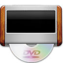 Dvd, player, disc Silver icon