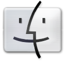 Dock, Finder Gainsboro icon