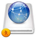 idisk, network, public SteelBlue icon
