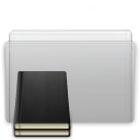 Library, Graphite, Folder Silver icon