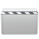 Graphite, film, video, Folder, movie Silver icon