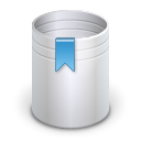 Full, Trash, recycle bin Silver icon