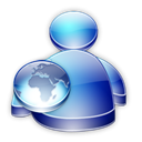 Buddy, Msn, web Black icon