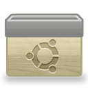 Folder, Ico, Ubuntu Gray icon