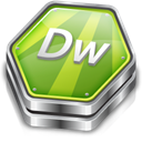 dreamweaver, adobe YellowGreen icon